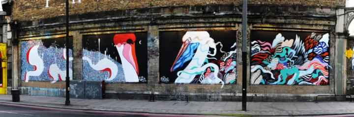 mateus bailon at the shoreditch art wall